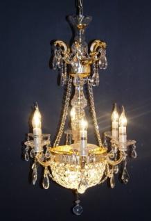 Casa Padrino Barock Kristall Kronleuchter 6-Flammig Gold ModK3 - Hängeleuchte Lüster Hängelampe Deckenlampe