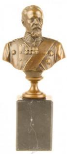 Casa Padrino Luxus Bronze Figur Büste Minister Sergei Y. Witte 19.6 x 8.7 cm - Skulptur Militaria Russland