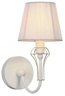 Casa Padrino Jugendstil Wandleuchte Weiß / Gold 15 x 24 x H. 30 cm - Jugendstil Wandlampe - Vorschau 2