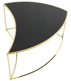 Casa Padrino Luxus Couchtisch Gold / Schwarz Ø 150 x H. 40 cm - Designer Wohnzimmermöbel - Vorschau 2