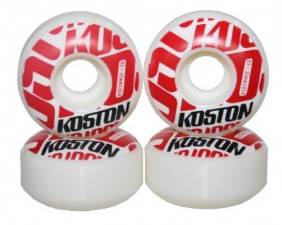 Koston Profi Skateboard Rollen Set 53mm White/ Red Logo Wheels Wheel Set (4 Rollen)