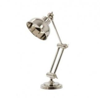 Casa Padrino Tischleuchte Silber 12 x H 37 cm - Leuchte - Schreibtischleuchte - Büroleuchte