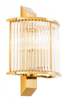 Casa Padrino Luxus Wandleuchte Gold 20, 5 x 12 x H. 30 cm - Designer Wandlampe