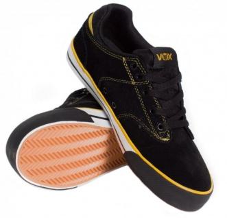 Vox Vox Vox Skateboard Schuhe Lockdown schwarz/Gold/Weiß 2522a3