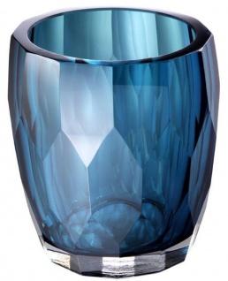 Casa Padrino Luxus Deko Glas Vase Blau Ø 12 x H. 14 cm - Luxus Qualität - Vorschau 2