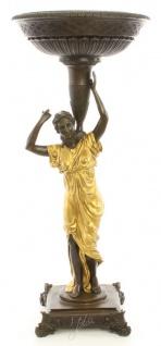 Casa Padrino Jugendstil Blumentopfständer Bronze / Gold 33 x 33 x H. 77, 2 cm - Luxus Bronzefigur