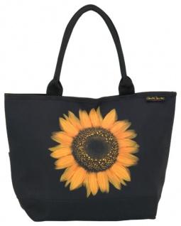 Designer Shoppertasche mit einzelner Sonnenblumenblüte - Elegante Tasche - Luxus Design