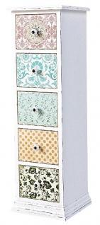 Casa Padrino Landhausstil Kommode Antik Weiß / Mehrfarbig 33 x 32 x H. 110 cm - Möbel im Shabby Chic Design