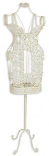 Casa Padrino Jugendstil Schneiderbüste Antik Weiß 36, 5 x H. 139, 5 cm - Mannequin Damenbüste Schneiderpuppe