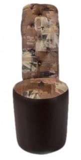 Moderner und sehr eleganter Casa Padrino High Heel Sessel mit Dekosteinen Union Jack London Design / Braun - Designer Sessel - Club Möbel - Vorschau 3
