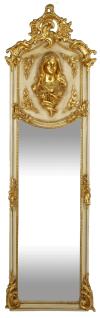 Casa Padrino Luxus Barock Wandspiegel Madonna Creme / Gold 55 x H. 175 cm - Massiv und Schwer - Antik Stil Spiegel