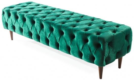 Casa Padrino Luxus Chesterfield Doppelbett Grün / Braun - Verschiedene Größen - Modernes Bett mit Matratze und Sitzbank - Schlafzimmer Möbel - Vorschau 4