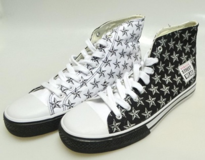Vision Street Wear Skateboard Schuhe Road &Star Hi Schwarz/Weiß