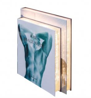 Casa Padrino Luxus Tischleuchte im Bücher Design Männer 31 x 7, 5 x H. 26, 5 cm - LED Tischlampe
