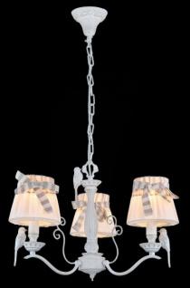 Casa Padrino Barock Kristall Decken Kronleuchter Weiß 55 x H 37 cm Antik Stil - Möbel Lüster Leuchter Hängeleuchte Hängelampe