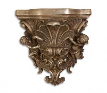 Casa Padrino Barock Wandkonsole Bronze 16, 5 x 34, 9 x H.36, 3 - Hotel Möbel