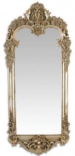 Casa Padrino Barock Spiegel Antik Silber 31, 3 x H. 70, 1 cm - Garderoben Spiegel - Wohnzimmer Spiegel - Wandspiegel im Barockstil