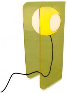 Casa Padrino Luxus Designer Tischleuchte Gelb 28, 5 x 17 x H. 59 cm - Moderne Leuchte - Vorschau 2