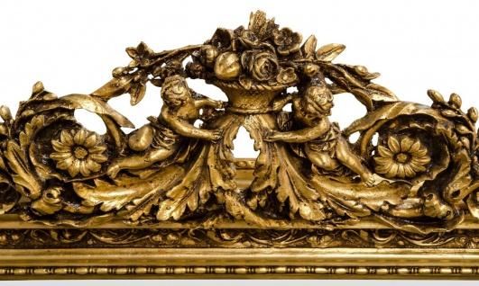 Casa Padrino Antik Stil Wandspiegel Gold 142 x H. 100 cm - Barock Möbel - Vorschau 3