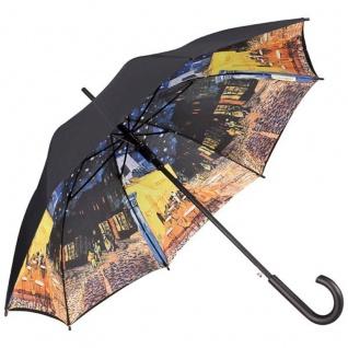 "MySchirm Designer Regenschirm Vincent van Gogh: "" Nachtcafé"" - Eleganter Stockschirm - Luxus Design - Automatikschirm"