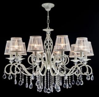 Casa Padrino Barock Kristall Decken Kronleuchter Cream Gold 85 x H 64 cm Antik Stil - Möbel Lüster Leuchter Hängeleuchte Hängelampe