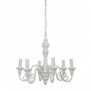 Casa Padrino Barock Decken Kronleuchter Weiß Durchmesser 55 x H 45 cm Antik Stil - Möbel Lüster Leuchter Deckenleuchte Hängelampe