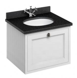 Casa Padrino Luxus Hänge-Waschschrank / Waschtisch mit Granitplatte und Schublade - Jugendstil Design