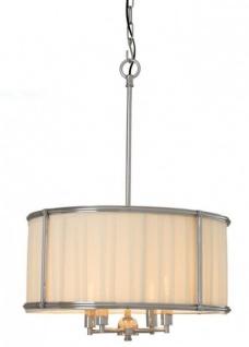 Casa Padrino Luxus Leuchte - Luxus Nickel Hängeleuchte Durchmesser 52 x H 73, 5 cm