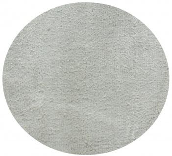 Casa Padrino Luxus Wohnzimmer Teppich Silber-Beige Ø 280 cm - Runder Viskose Teppich - Luxus Qualität - Wohnzimmer Deko Accessoires