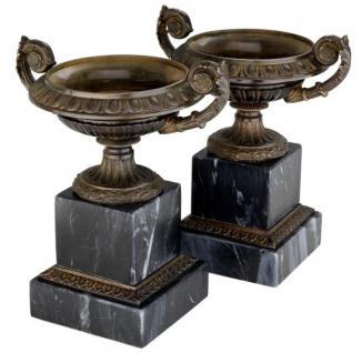 Casa Padrino Vasen 2er Set 17 x 13 x H. 19, 5 cm - Luxus Dekoration