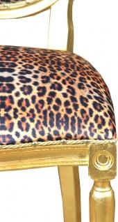 Casa Padrino Barock Luxus Esszimmer Stuhl Leopard / Gold Mod2 - Designer Stuhl - Hotel & Restaurant Möbel - Luxus Qualität - Vorschau 2