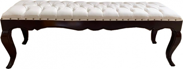 Casa Padrino Luxus Barock Esszimmer Bank in leicht Creme/Braun 140 cm - Hotel Barock Sitzbank - Luxus Qualität