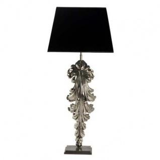 Designer Hockerleuchte Silber / Schwarz Höhe 106 cm, Breite 23 cm, Tiefe 48 cm Luxus Qualität - Leuchte Lampe