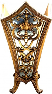 Massiver Casa Padrino Barock Luxus Schirmständer Gold mit Spiegelglas - Hotel Interior Luxus Kollektion - Limited Edition