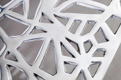 Casa Padrino Art Deco Couchtisch Silber Metall 75 x 35 cm- Jugendstil Tisch - Möbel Wohnzimmer - Vorschau 4