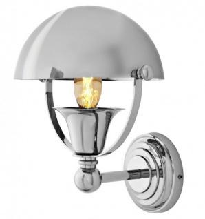 Casa Padrino Luxus Wandleuchte NYC Vintage Banker Style vernickeltes Metall - Wand Leuchte Lampe - Vorschau