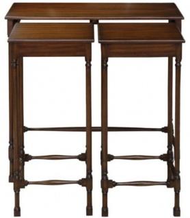 Casa Padrino Luxus Mahagoni Beistelltisch Set Dunkelbraun 67 x 28 x H. 70 cm - Luxus Möbel - Vorschau 5