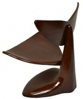 Casa Padrino Designer Mahagoni Stuhl Dunkelbraun 83 x 68 x H. 87 cm - Designermöbel - Luxus Qualität - Vorschau 2