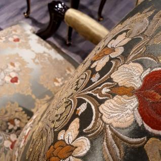 Casa Padrino Luxus Barock Ohrensessel Gold / Mehrfarbig / Schwarz - Prunkvoller Wohnzimmer Sessel mit elegantem Muster - Barock Möbel - Vorschau 3