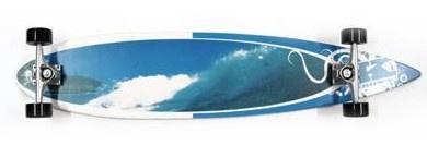 Krown - Longboard Komplettboard Skateboard Rip Tide Pintail Longboard Complete