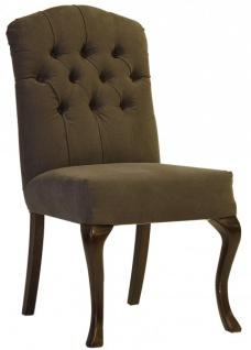 Casa Padrino Designer Esszimmer Stuhl ModEF 197 Braun / Braun - Hotel Möbiliar - Buchen Holz - Europäische Herstellung - Vorschau 2