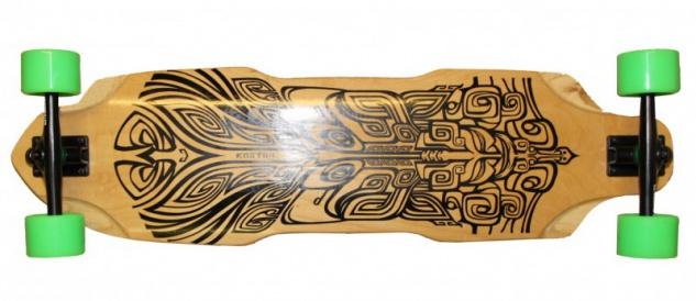 Koston Longboard Profi Komplettboard Cruiser / Carver Sword 35.875 x 9.75 inch - High End Longboard Carving Board