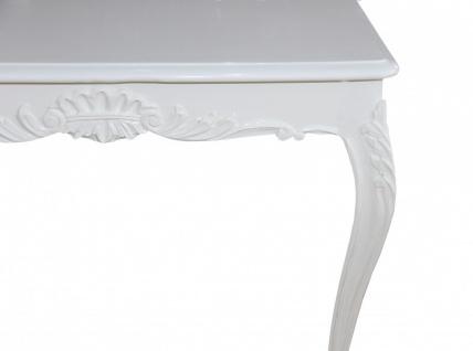 Casa Padrino Barock Esstisch Weiss 100 cm x 100 cm- Esszimmer Tisch - Antik Stil Möbel - Vorschau 4