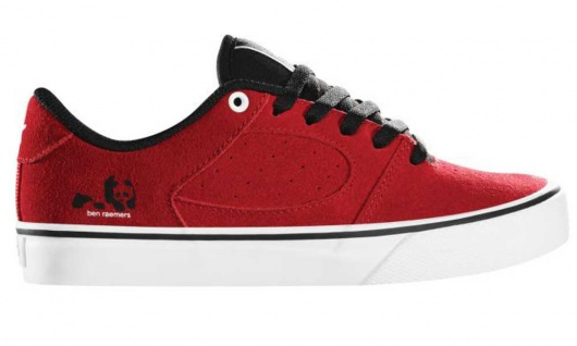 ES Footwear Skateboard Schuhe Square Two youth Kids Rouge Red/White/Black