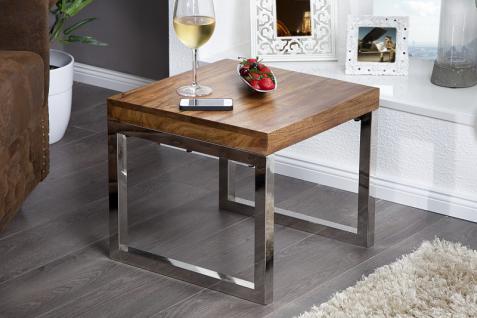 Casa Padrino Luxus Beistelltisch Natur Massivholz 45 x 46 x H.40 cm - Jugendstil Tisch