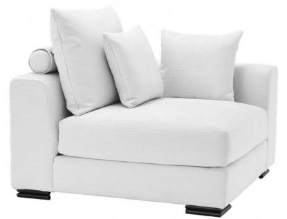 Casa Padrino Luxus Ecksofa Weiß / Schwarz 108 x 108 x H. 90 cm - Erweiterbares Wohnzimmer Sofa mit Kissen - Luxus Möbel