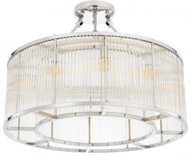Casa Padrino Deckenleuchte Silber Ø 80 X H. 61 Cm   Luxus Wohnzimmer  Deckenlampe