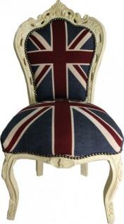 Casa Padrino Barock Esszimmer Stuhl Union Jack / Creme - Vorschau 1