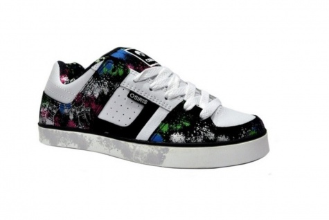 Osiris Skateboard Schuhe-- Libra Girls-- White/Black/Kitty K Murray