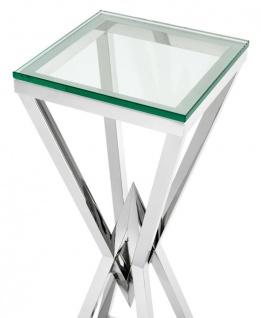 Casa Padrino Luxus Beistelltisch / Säule Edelstahl Silber 35 x 35 x H. 101 cm - Designer Tisch Möbel - Vorschau 2
